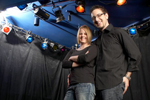 ShowClix founders Lynsie Camuso and Joshua Dziabiak